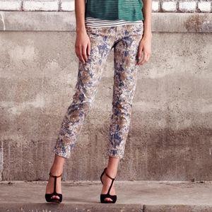 Club Monaco Floral Jeans